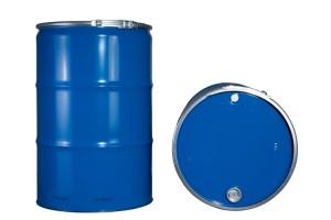 Deckelfass containergerecht für Flüssigkeiten (Stahlblechdeckelfässer)