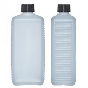 Kunststoffvierkantflasche H500
