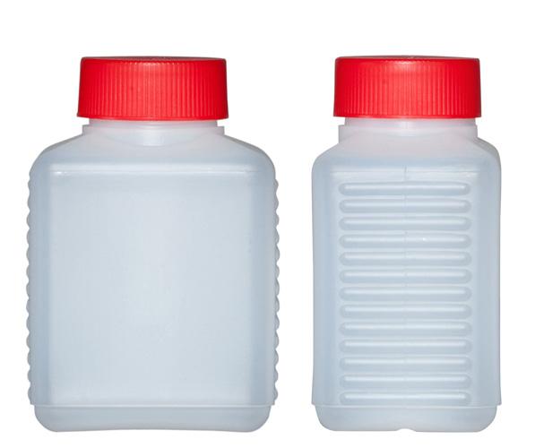 Kunststoffvierkantflaschen