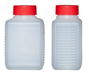 Kunststoffvierkantflasche H300